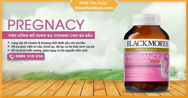 Vitamin Blackmores Pregnancy and Breast-Feeding Gold -  cung cấp đến 20 loại vitamin cho Mẹ và Bé