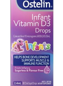Vitamin D3 Ostelin dạng giọt cho trẻ sơ sinh 2.4ml