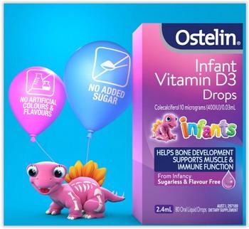 Ostelin Vitamin D3 Kids 2.4 ml cho trẻ sơ sinh