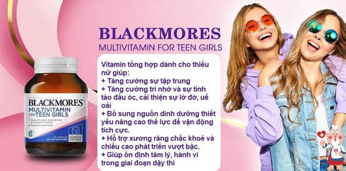 Blackmores Multivitamin for Teen Girls - hộp 60 viên