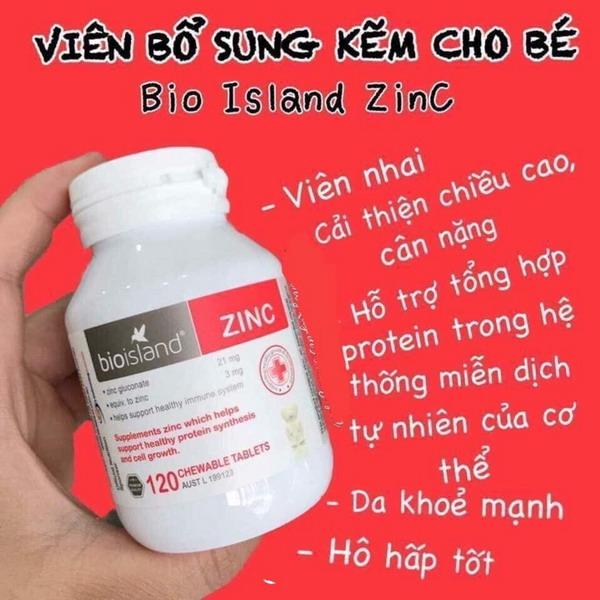 kẽm bio island zinc 120 viên